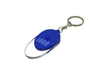 卵形のプラスチックLED KeychainのABS小型昇進のキーホルダーライト