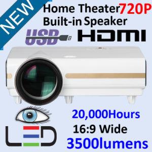 Высокая яркость ЖК-HDMI проектор мультимедиа
