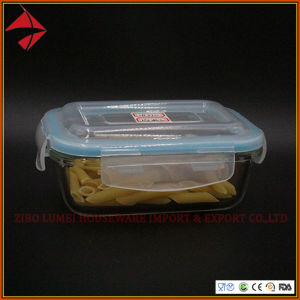 Lunch Box de vidro Pyrex recipientes alimentares de vidro com talheres