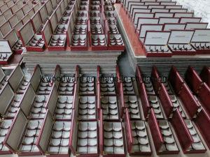 Lácio Matt chá de madeira jóias de alimentar o mostrador de Armazenagem de Embalagens Caixa de oferta