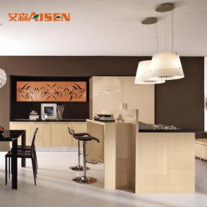 Armadio da cucina lucido di vendita caldo della lacca moderna su ordinazione di disegno 2018