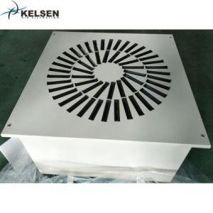 Revêtement en poudre air en sortie de CVC En acier avec filtre HEPA H14