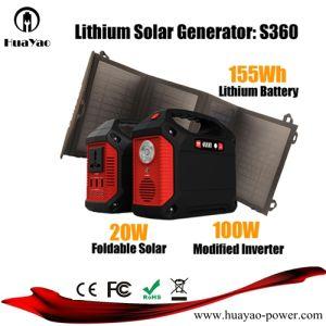 태양 전지판 30W를 가진 휴대용 옥외 태양 발전소 리튬 건전지 변환장치 발전기