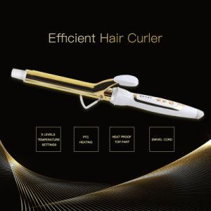Ouro Clássico Electroplated Electric modelador de cabelo Modelador com suporte Heat-Proof