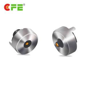 Ronda 1pin hembra macho magnético Pin conector USB Cable Pogo