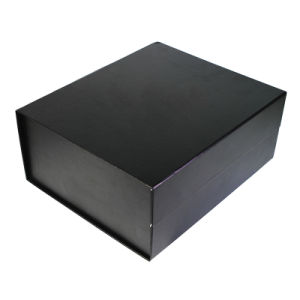 Plegado magnético Logotipo personalizado imprimir en negro sin introducir envases de papel Caja de regalo