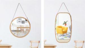 Specchio integrale d'attaccatura incorniciato bambù per la stanza da bagno