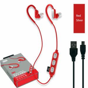 Design com gancho auricular Bluetooth da Cintagem de desporto com música TF Card