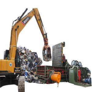 La chatarra de aluminio acero aleado hidráulica máquina de reciclaje empacadora de metal