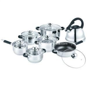 Utensilios de Cocina de 14pcs Conjunto de acero inoxidable con hervidor de agua