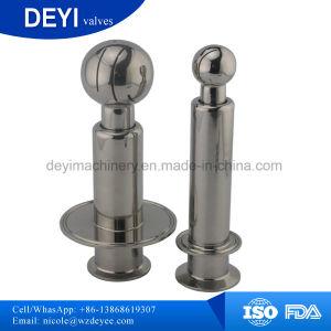 Kundenspezifische gesundheitliche CIP-Drehspray-Kugel mit doppelten Schellen