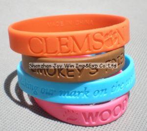 Wristbands del silicone che fanno pubblicità al Wristband di Debossed dei Wristbands