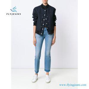 E. P. 142 Moda Mujer Boot-Cut azul denim Jeans