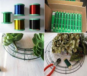 Collegare rivestito pesante del PVC del singolo filo del calibro per il collegare del fiorista