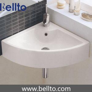 Lavage de coin lavabo en céramique/mur accroché Bassin pour salle de bain (3502)