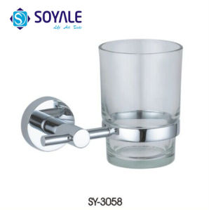 Zink Alloy Tumbler Holder mit Glass Toothbrush Cup Chrome Finishing Item Sy-3058 Starfish Series