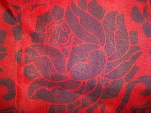 印刷の絹の軽くて柔らかいファブリック