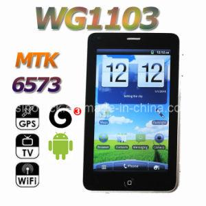 5.0 Telefon MTK 6573 Android2.3 WCDMA GPS des Zoll-WG1103 intelligenter Handy Fernsehapparat-WiFi