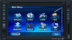 7&acute&acute 자동화된 전면 패널 (DTG8700)를 가진 분리가능한 TFT 차 DVD 플레이어