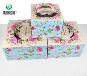 Kundenspezifischer gewölbtes Papier-Drucken-Farben-Kuchen-verpackenkasten