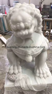 Dierlijke Beeldhouwwerk van de Steen van de Standbeelden van het Graniet van de leeuw het Marmeren Snijdende voor de Decoratie van de Tuin