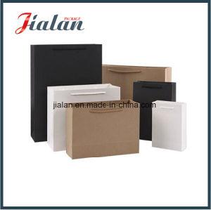 f38322ea9 Wholesales publicidad personalizada impresas en negro Compras bolsa de papel  Kraft de regalo
