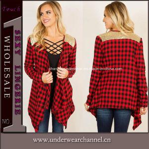 OEM y ODM de moda de la mujer de algodón tejido Jersey Cardigan
