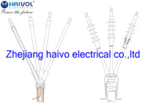 Piscina 11KV-35kv calor e frio retrácteis de terminação do cabo de alimentação e os kits de junta (1 e 3 core)