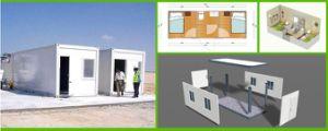 Conteneur d'expédition des maisons modulaires préfabriquées Immeuble Bureau maison préfabriquée en conteneur