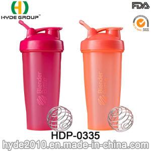 Livre de BPA personalizados 600ml Garrafa de peneira plástica de proteínas de PP