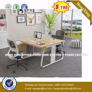 멜라민에 의하여 박판으로 만들어지는 책상 너도밤나무 색깔 사무실 테이블 직원 워크 스테이션 (HX-8NR0502)