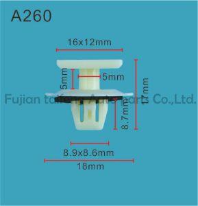 Qualitäts-roter Plastikclip-Befestigungsteil-Stoss-Selbsthaltering