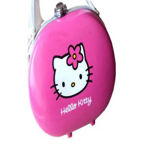 Hello Kitty rose cuir synthétique composent le sac de cosmétiques pour les déplacements de cas d'affichage