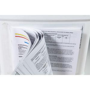 Camada de várias vezes para folheto auto-adesivo impresso Etiqueta de instruções de livreto