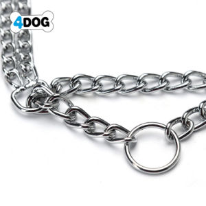 aec4ced038a3 Perro Collar de cadena 4 El perro mascota de metal de hierro de la cadena de