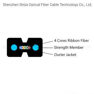 Tipo de arco de fibra óptica Cable de caída de la cinta de opciones para FTTH