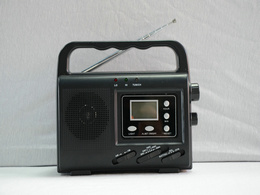Солнечного динамо-радио с светодиодный фонарик со светодиодной подсветкой