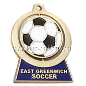 Diseño personalizado de aleación de zinc de la medalla del mecanismo de giro - Fútbol Deporte Fútbol // Caso