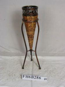 Il fiore del ferro & del rattan/pianta si leva in piedi, vaso