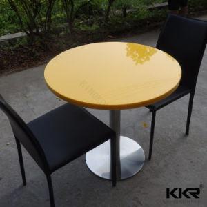 Kkr precio de fábrica de muebles Restaurante superficie sólida sobre la mesa de comedor (T171214)