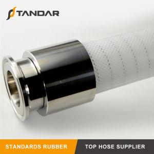 FDA renforcé en acier inoxydable de qualité alimentaire tuyau flexible en silicone avec connecteur rapide