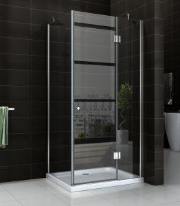 Banheiro 6/8mm dobradiça de vidro temperado de chuveiro simples
