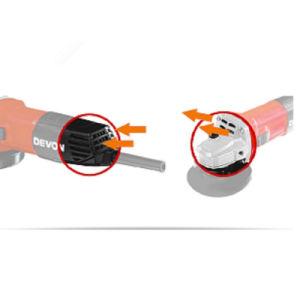 Herramientas eléctricas de alta calidad 18V Li-ion Cordless amoladora angular 115 mm con la batería y cargador