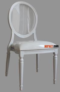 Стул классицистической мебели партии случаев арендной Stackable акриловый ясный обедая