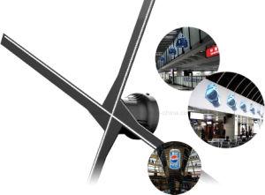 Occhio nudo LED del proiettore 3D dell'ologramma di Yashi 60cm WiFi che fa pubblicità al ventilatore della visualizzazione