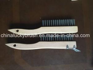 Spazzola di filo di acciaio bassa di legno con Schleifer per USA/European (YY-496)