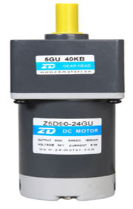 12V/24V 90W DC motorreductor eléctrico