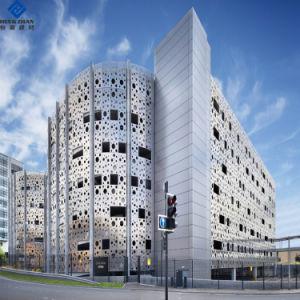 La couleur peint Motif perforé personnalisé du panneau de façade en aluminium