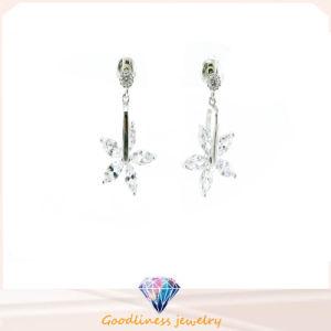Nieuwe Juwelen 925 de Echte Oorring E6701 van het Ontwerp van de Vorm van de Daling van de Strook