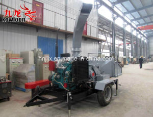 ディーゼル機関のタイプ移動式木製の砕木機